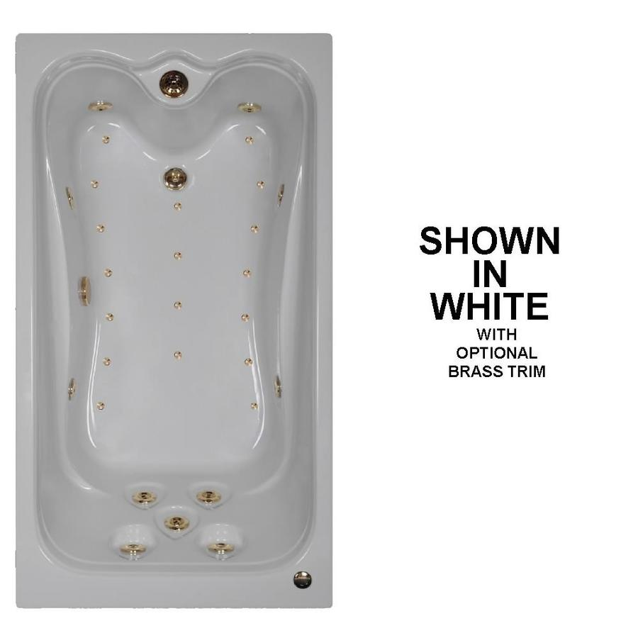Watertech Whirlpool Baths Elite 60-in L x 32-in W x 23.75-in H White Acrylic Rectangular Drop-in Whirlpool Tub and Air Bath