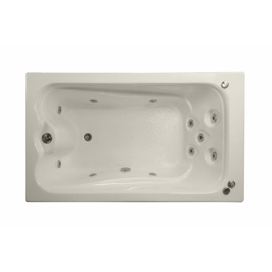 Watertech Whirlpool Baths Elite 60-in L x 32-in W x 23.75-in H Biscuit Acrylic Rectangular Drop-in Whirlpool Tub and Air Bath