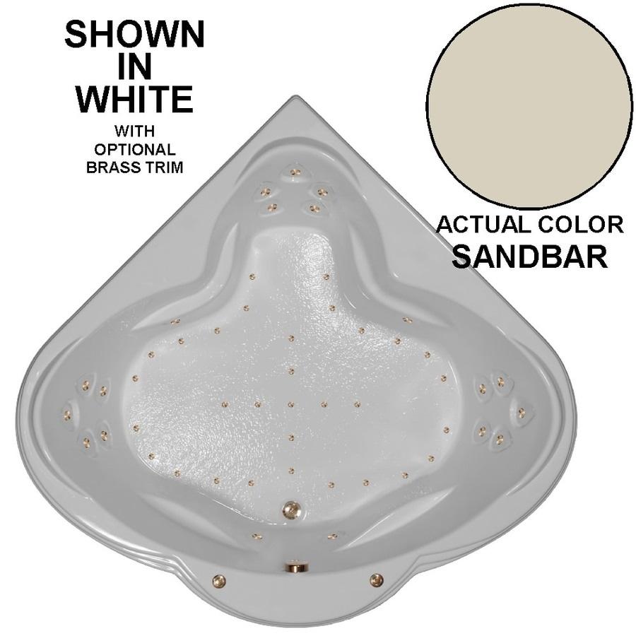 Watertech Whirlpool Baths 62-in Sandbar Acrylic Drop-In Air Bath with Front Center Drain