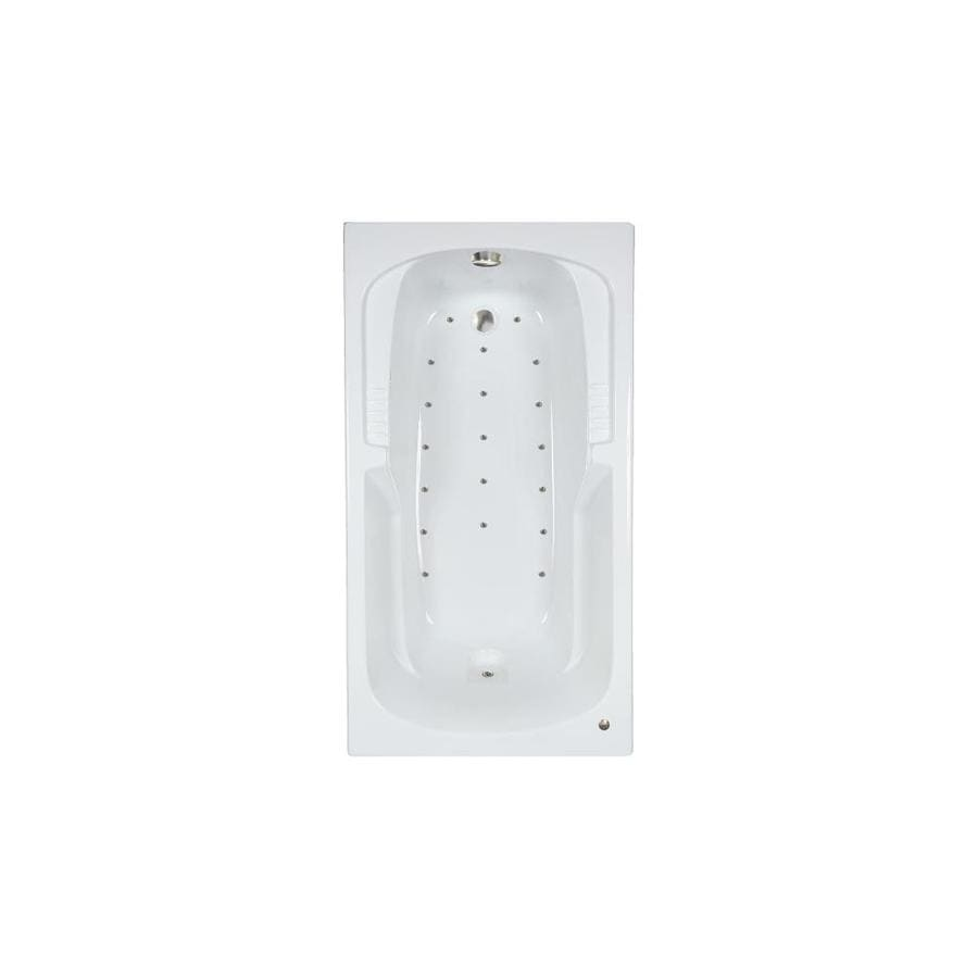 Watertech Whirlpool Baths 60-in L x 32-in W x 21-in H White Acrylic Rectangular Drop-in Air Bath