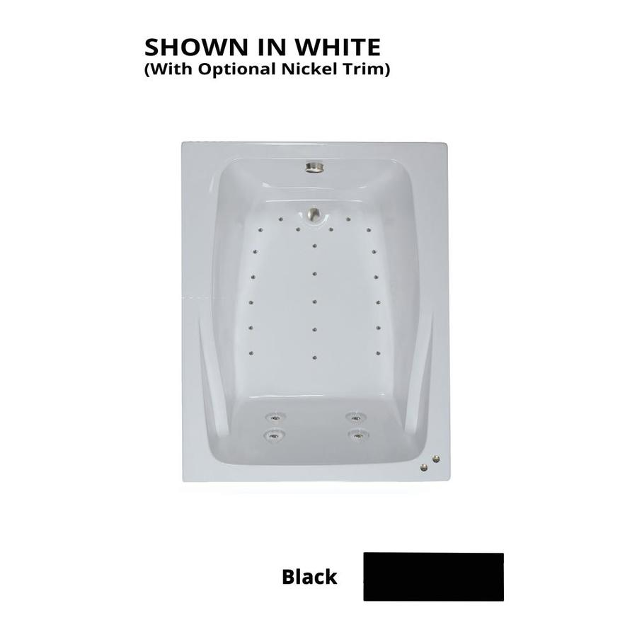 Shop Watertech Whirlpool Baths Designer 60 In Black Acrylic Drop In Whirlpool