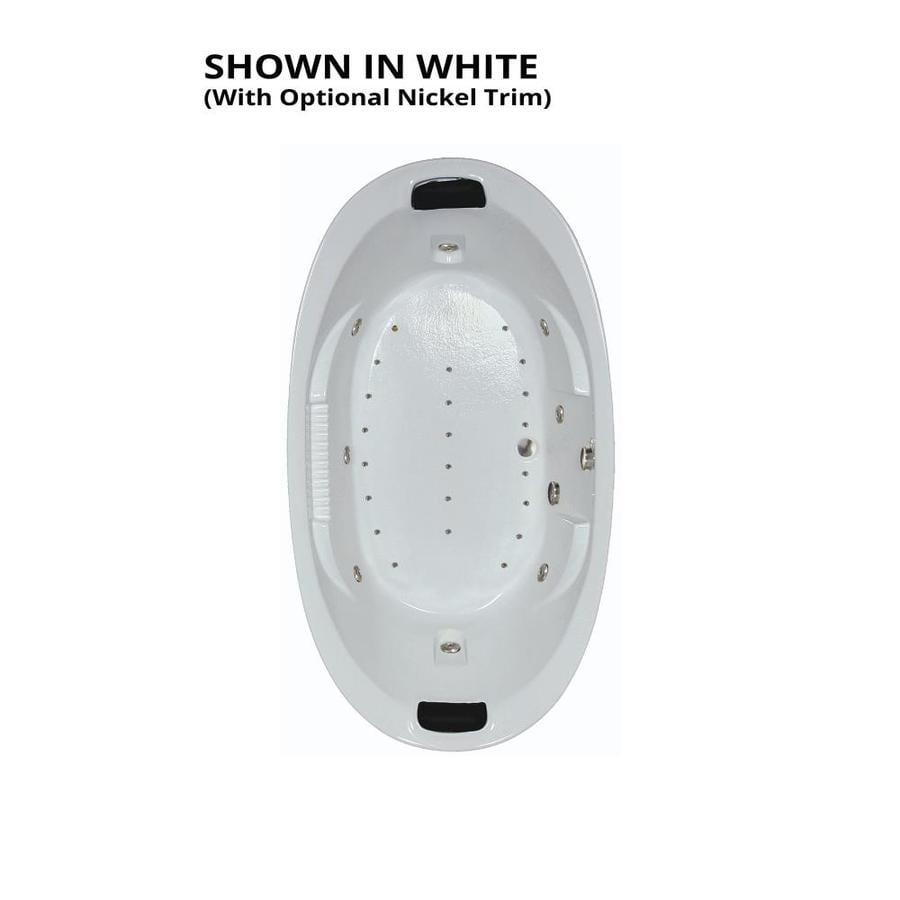Shop Watertech Whirlpool Baths Designer 84-in White Acrylic Drop-In ...
