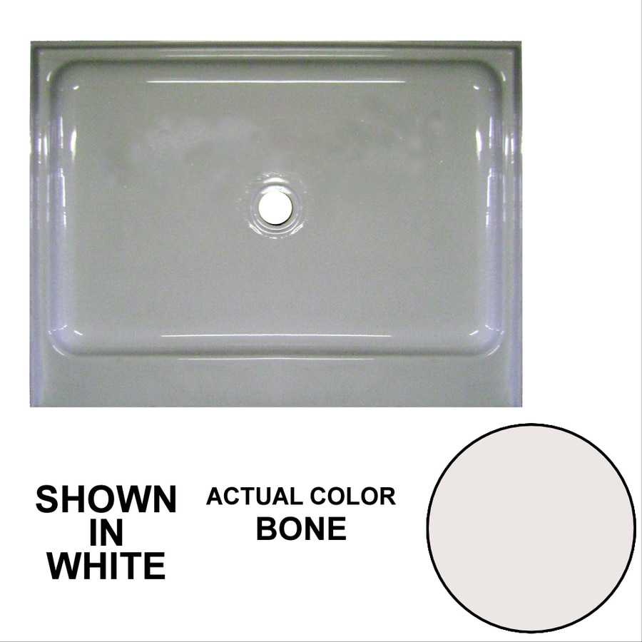 Watertech Whirlpool Baths Bone Acrylic Shower Base (Common: 36-in W x 48-in L; Actual: 36-in W x 48-in L)