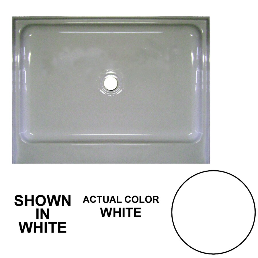 Watertech Whirlpool Baths White Acrylic Shower Base (Common: 36-in W x 48-in L; Actual: 36-in W x 48-in L)
