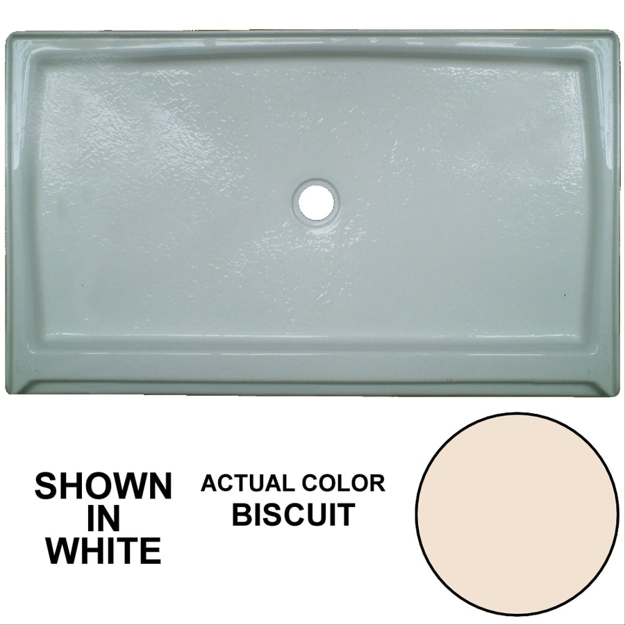 Watertech Whirlpool Baths Biscuit Acrylic Shower Base (Common: 36-in W x 60-in L; Actual: 36-in W x 60-in L)
