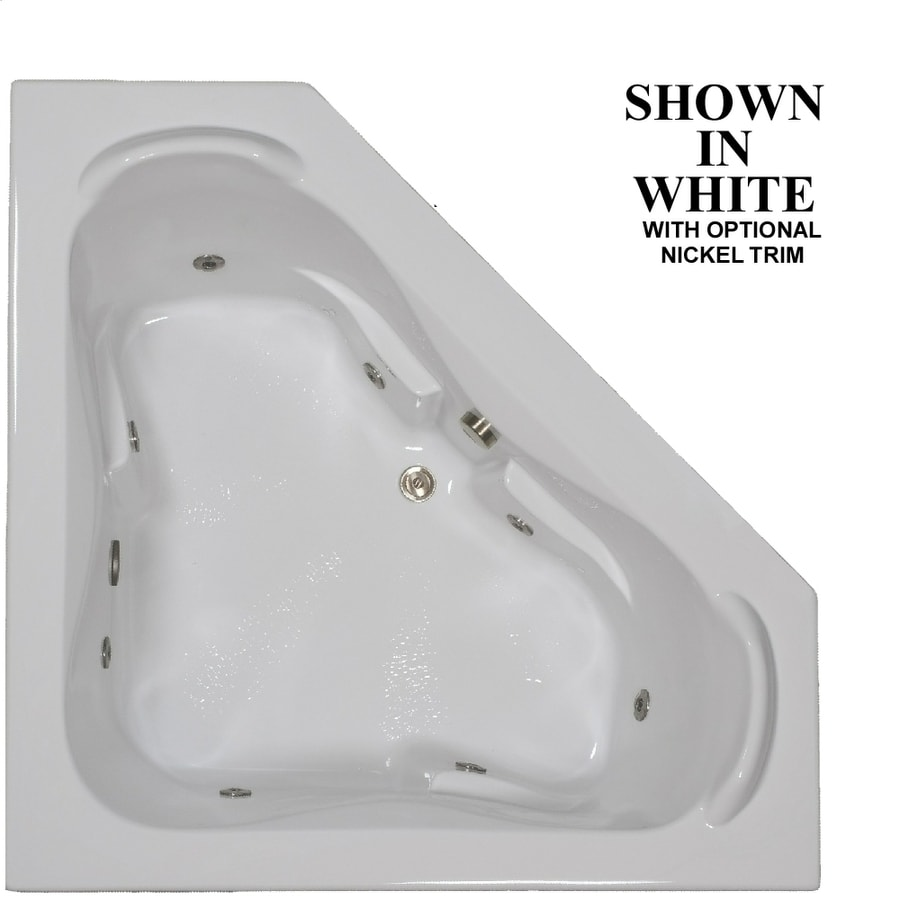 Hydra Massage Baths 2-Person White Acrylic Corner Whirlpool Tub (Common: 60-in x 60-in; Actual: 22.5-in x 60-in x 60-in)