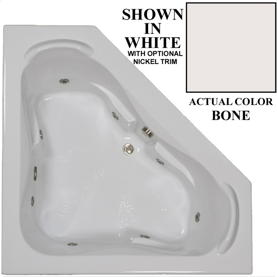 Shop Hydra Massage Baths 60-in Off-White Acrylic Corner Reversible ...