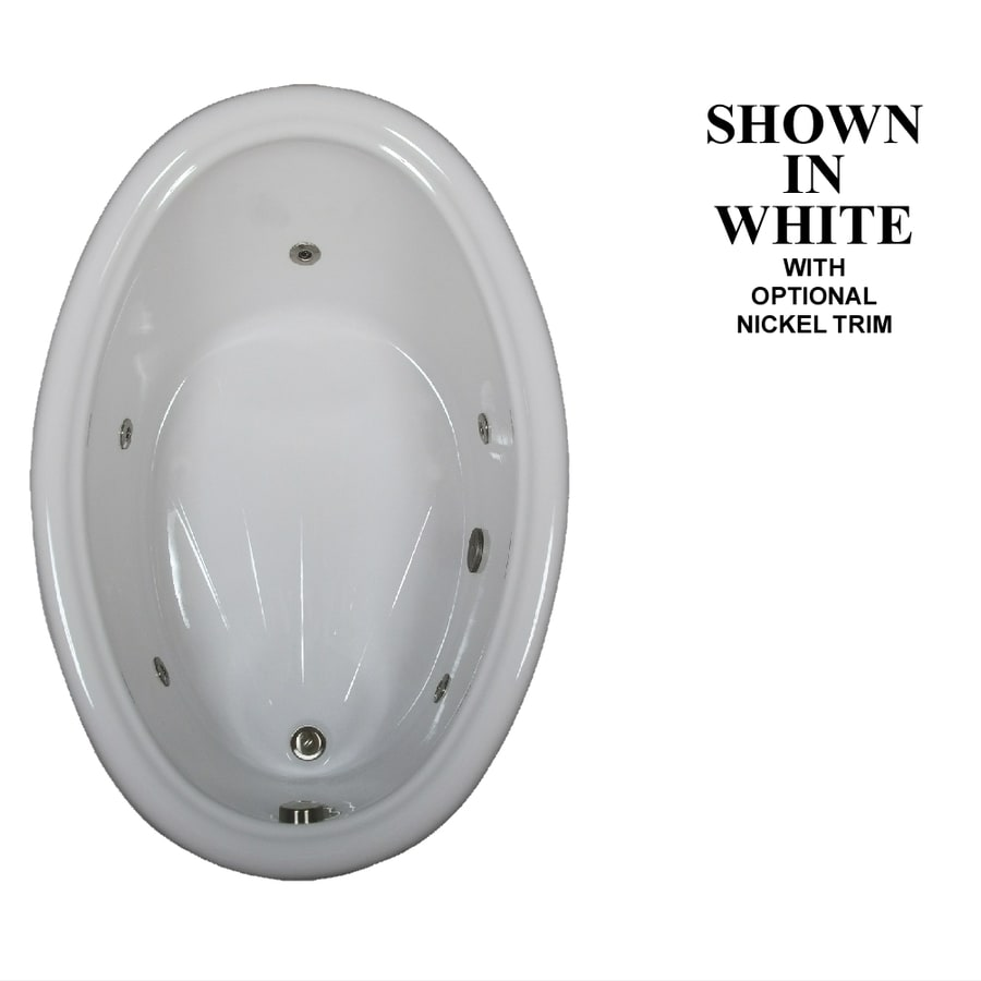 Hydra Massage Baths White Acrylic Oval Whirlpool Tub (Common: 42-in x 60-in; Actual: 19-in x 42-in x 60-in)