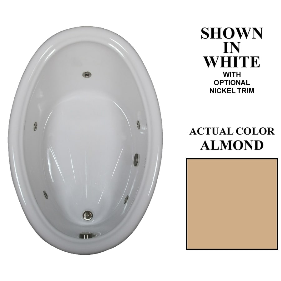 Hydra Massage Baths 60-in Almond Acrylic Drop-In Whirlpool Tub with Reversible Drain