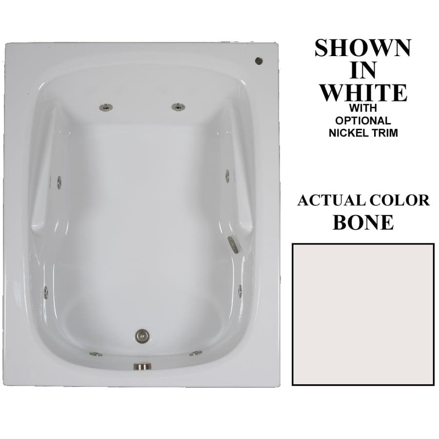 Hydra Massage Baths 60-in Bone Acrylic Drop-In Whirlpool Tub with Reversible Drain