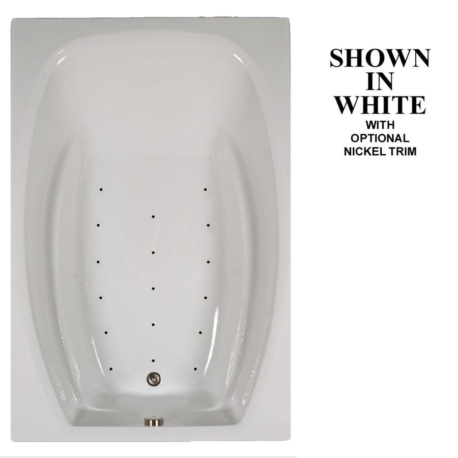 Hydra Massage Baths 72-in L x 48-in W x 23-in H White Acrylic 2-Person Rectangular Drop-in Air Bath