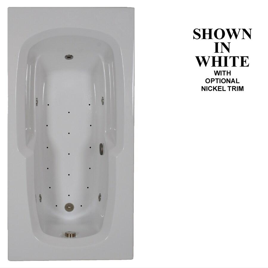 Hydra Massage Baths 72-in L x 36-in W x 21.25-in H White Acrylic Corner Drop-in Whirlpool Tub and Air Bath