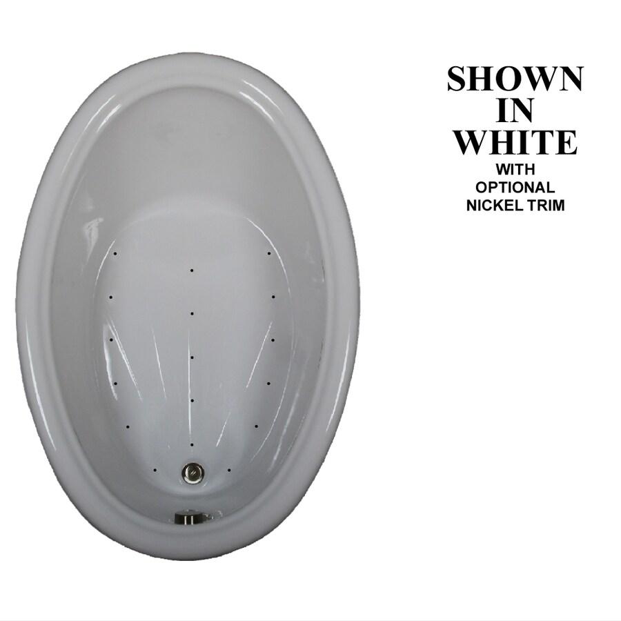 Hydra Massage Baths 60-in L x 42-in W x 20.5-in H White Acrylic Oval Drop-in Air Bath