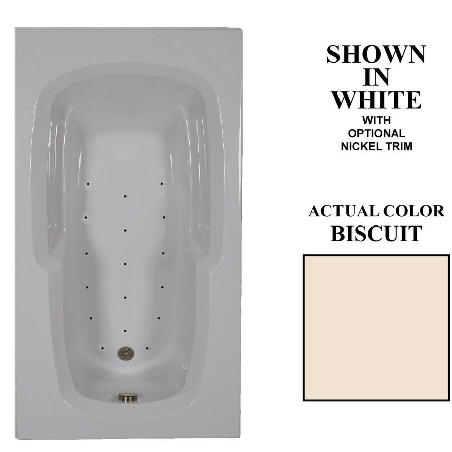 Hydra Massage Baths 60-in L x 36-in W x 20-in H Biscuit Acrylic Rectangular Drop-in Air Bath