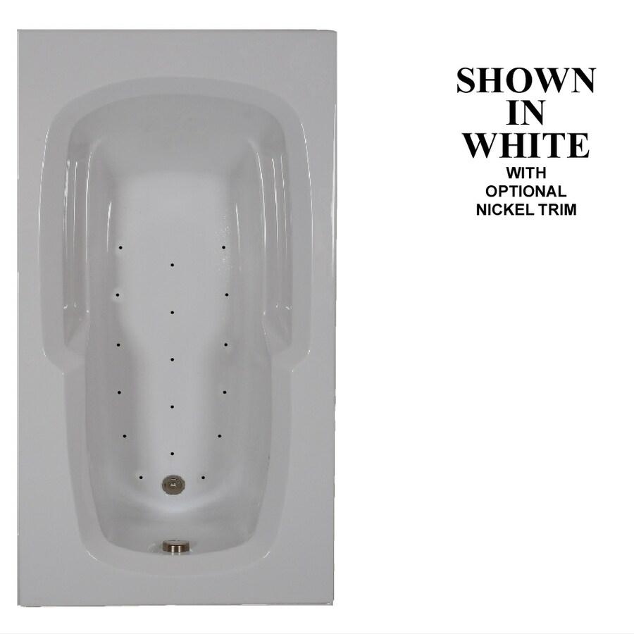 Hydra Massage Baths 60-in L x 36-in W x 20-in H White Acrylic Rectangular Drop-in Air Bath