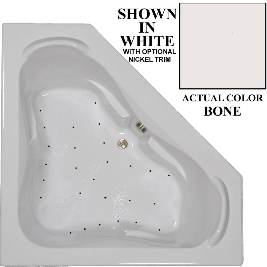 Hydra Massage Baths 60-in Bone Acrylic Drop-In Air Bath with Center Drain