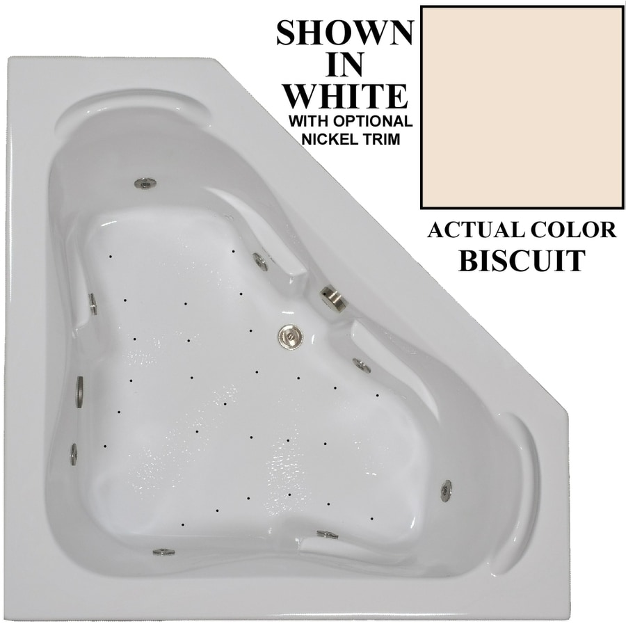Shop Hydra Massage Baths 60-in Biscuit Acrylic Drop-In Whirlpool Tub ...
