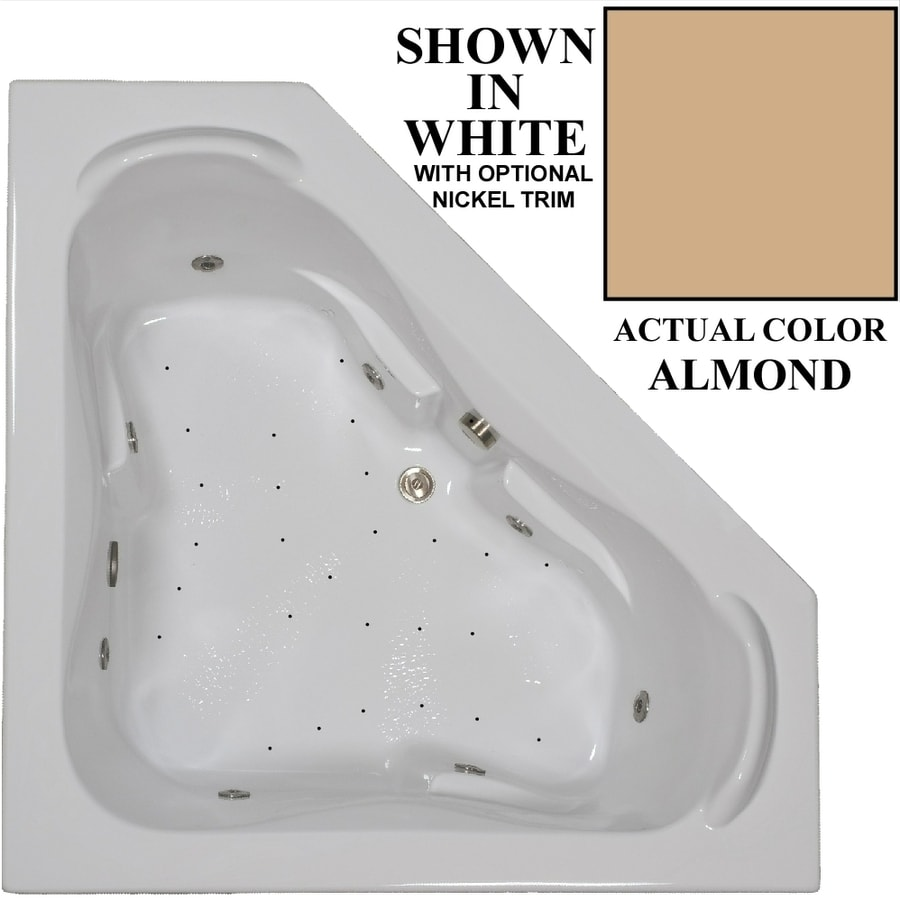 Hydra Massage Baths 60-in Almond Acrylic Drop-In Whirlpool Tub And Air Bath with Center Drain