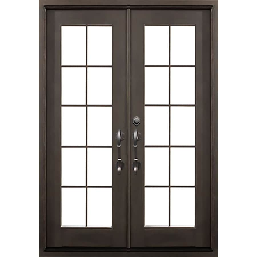 Shop florida iron doors french insulating core full lite for French doors exterior inswing