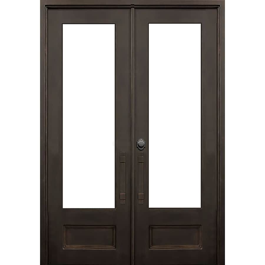 Charmant FLORIDA IRON DOORS 2 Panel Insulating Core 3/4 Lite Right Hand Outswing