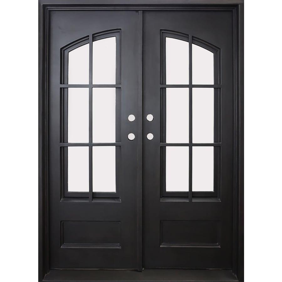 FLORIDA IRON DOORS 2 Panel Insulating Core 3/4 Lite Right Hand Inswing