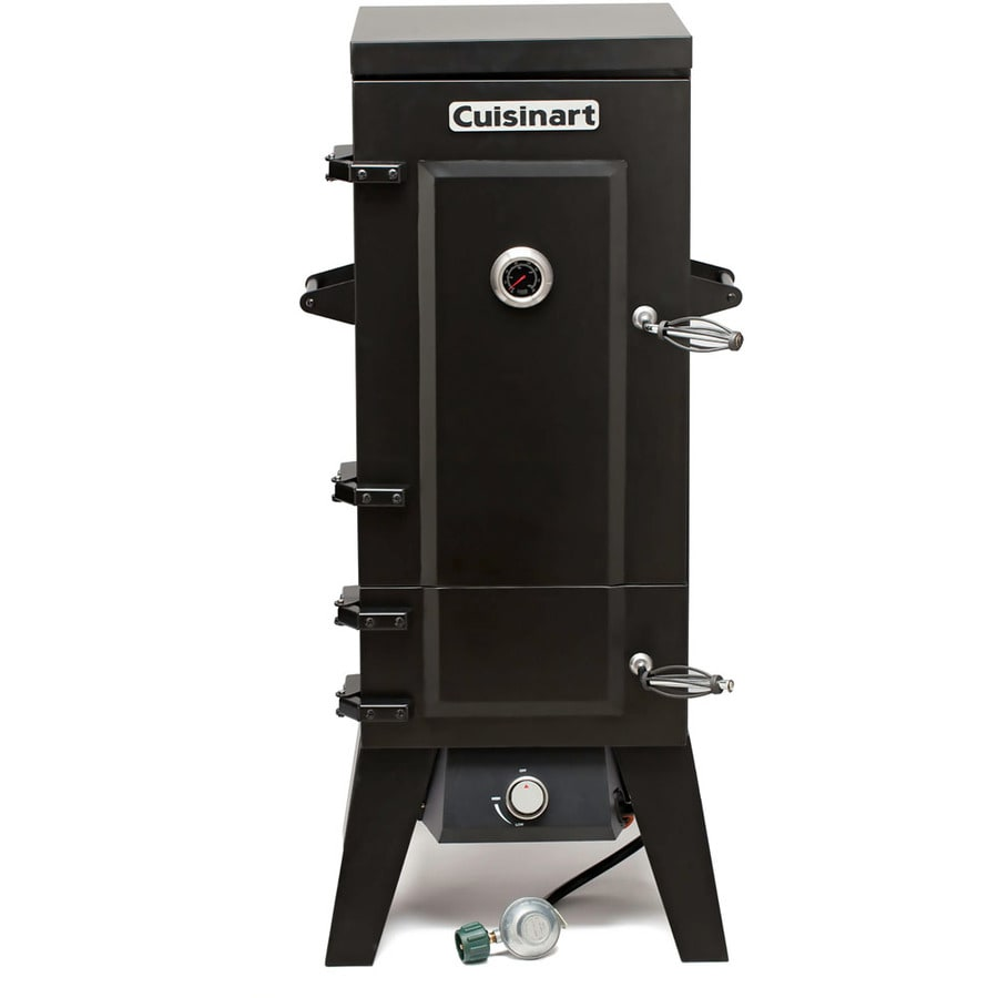 Cuisinart 20-lb Cylinder Piezo Ignition Gas Vertical Smoker (Common: 46-in; Actual: 46-in)