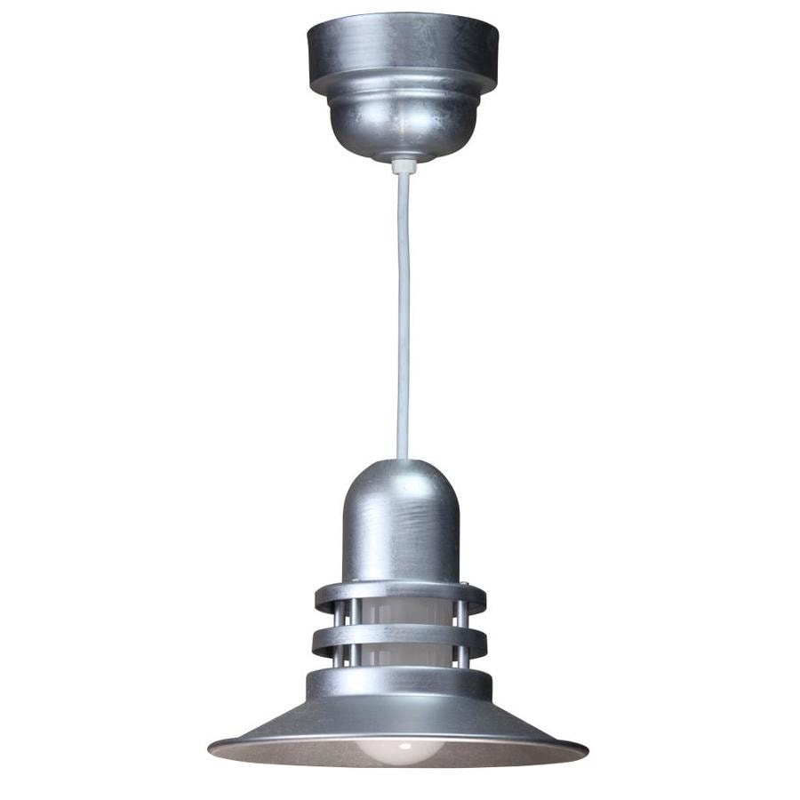 Brooster 12-in Galvanized Mini Pendant