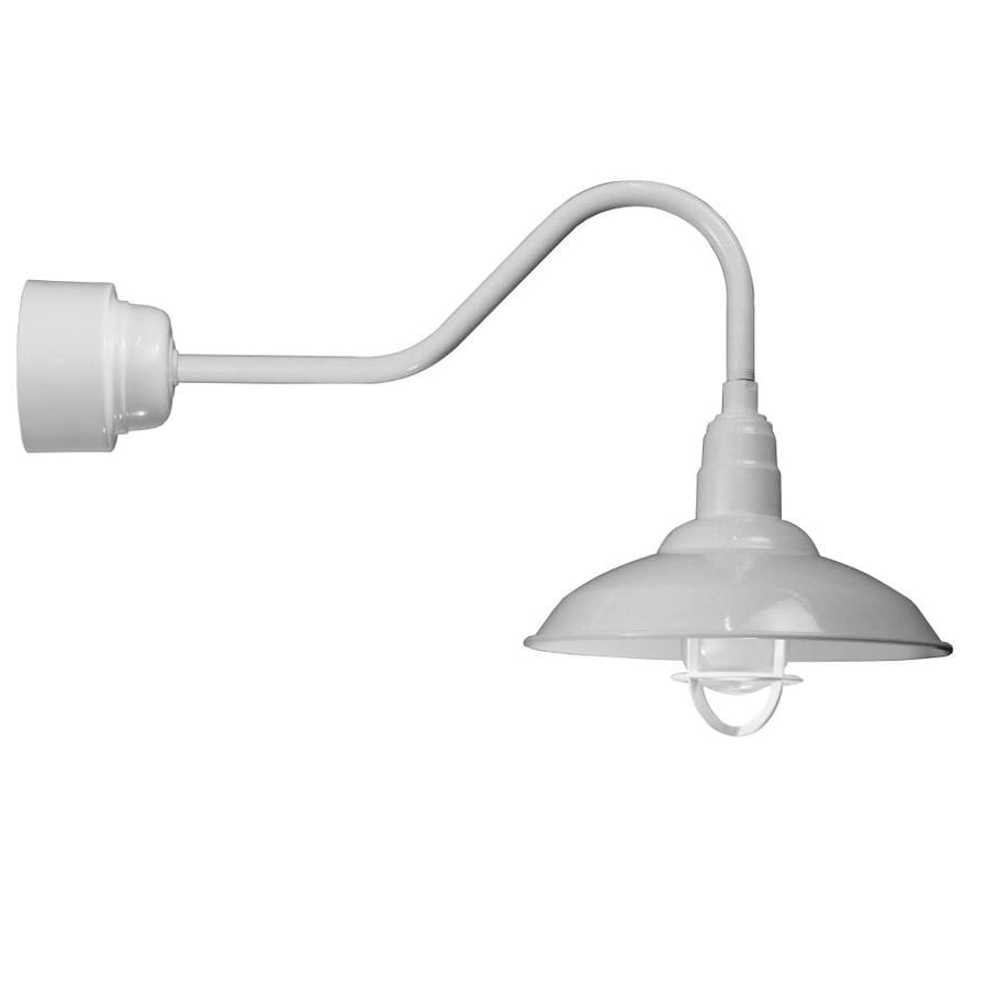 Brooster 16-in W 1-Light White Arm Hardwired Wall Sconce
