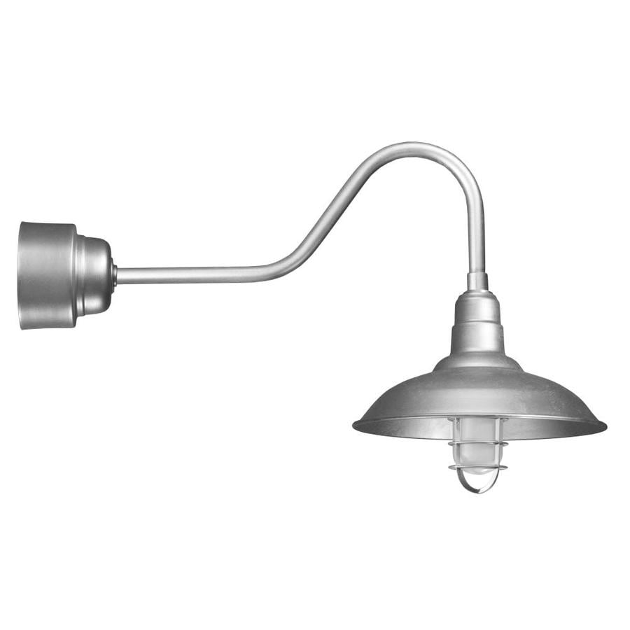 Brooster 16-in W 1-Light Galvanized Modern/Contemporary