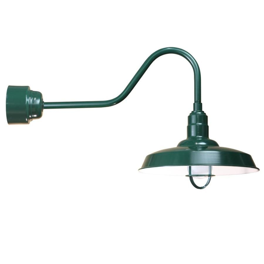 Brooster 18-in W 1-Light Green Arm Hardwired Wall Sconce
