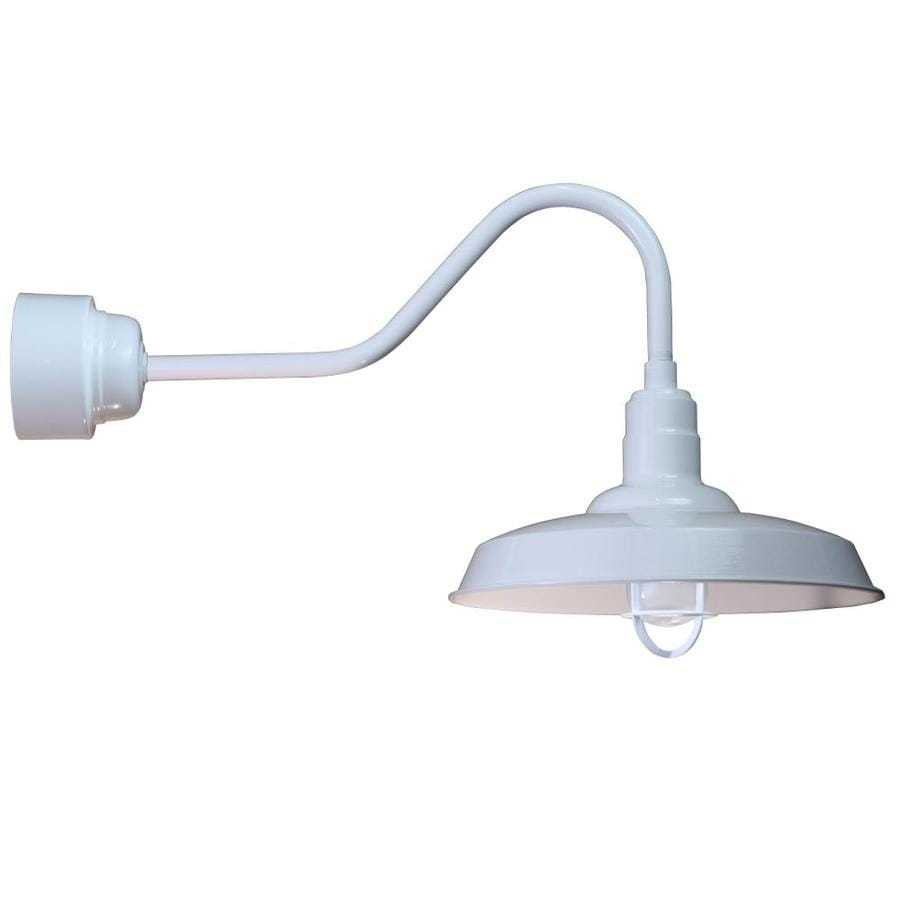 Brooster 18-in W 1-Light White Arm Hardwired Wall Sconce