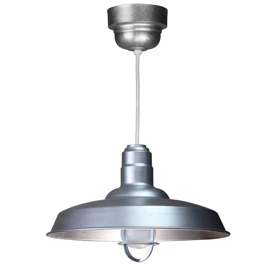 Brooster 18-in Galvanized Mini Pendant
