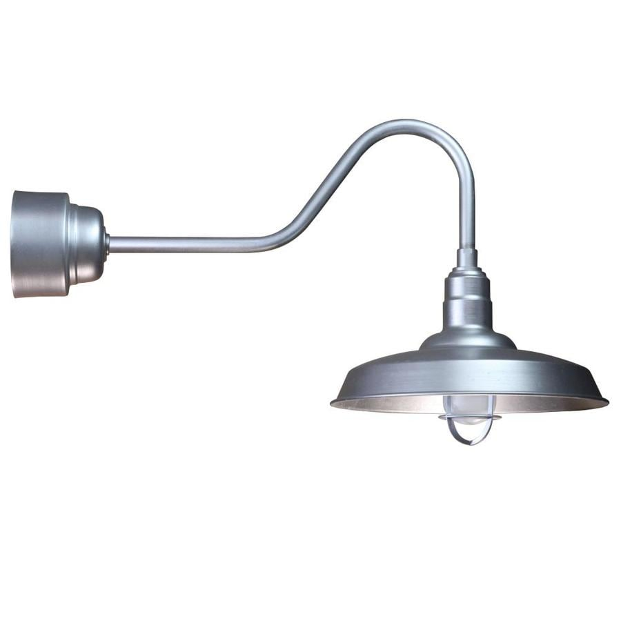 Brooster 18-in W 1-Light Galvanized Arm Hardwired Wall Sconce