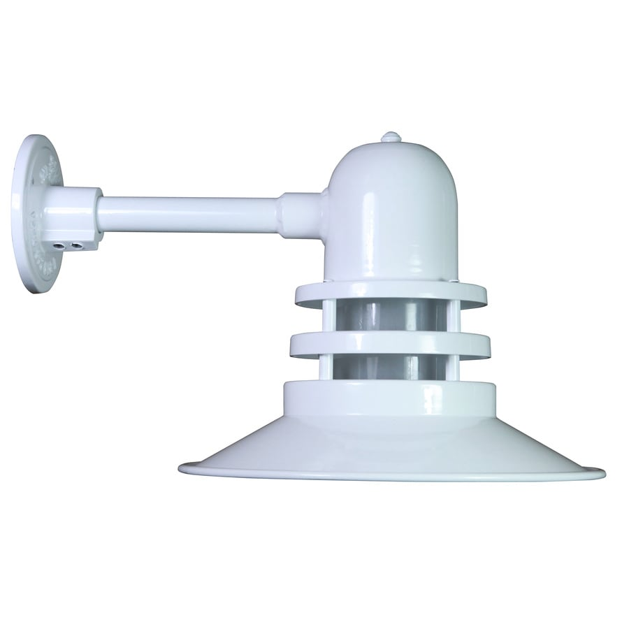 Shop Brooster 17-in W 1-Light White Arm Wall Sconce at Lowes.com