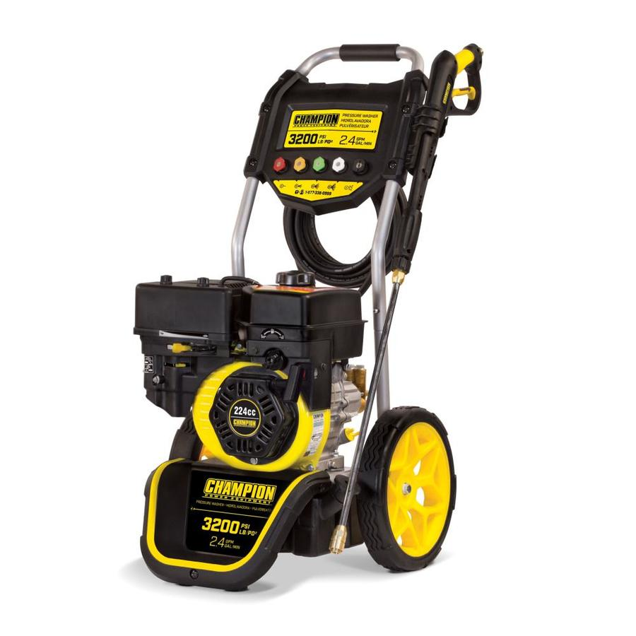 Champion Power Equipment 3200-PSI 2.4 Gallons-Gpm Cold Water Gas Pressure Washer Carb Compliant