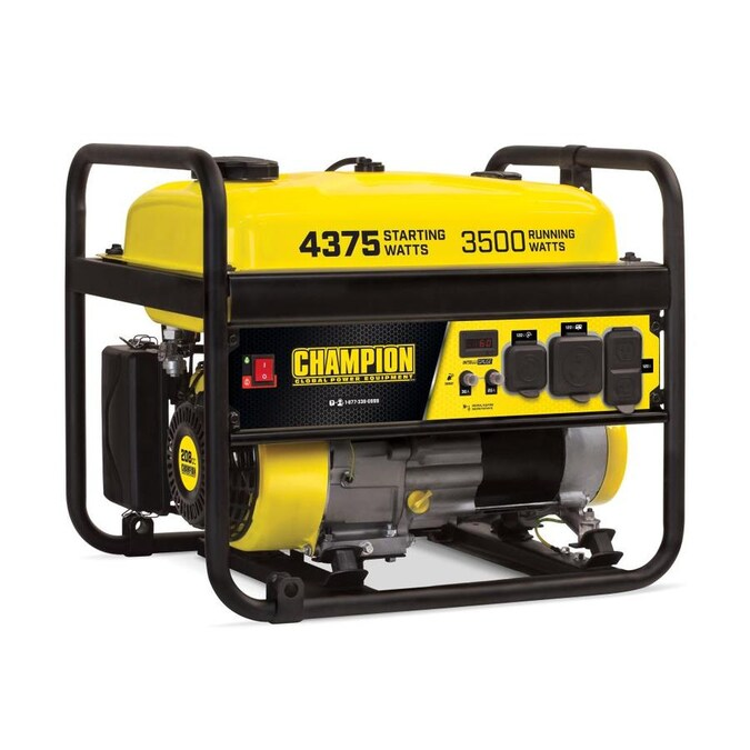 Champion Power Equipment 3500 Watt Gasoline Portable Generator With Champion Engine In The Portable Generators Department At Lowes Com