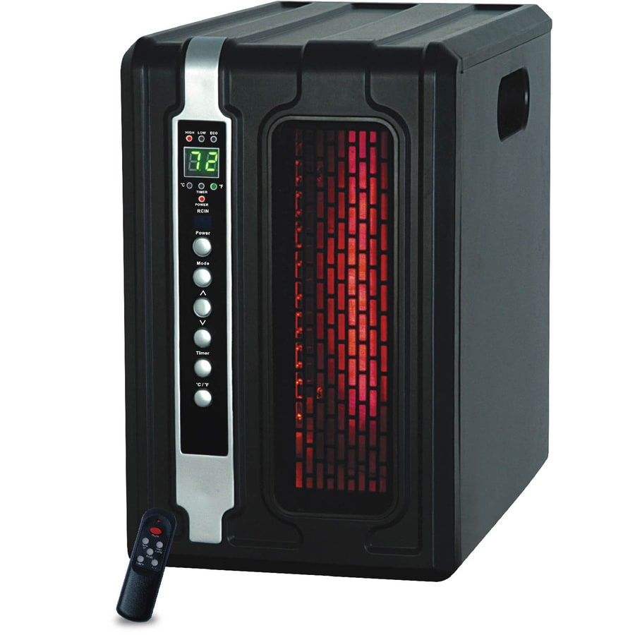 LifeSmart 5,100-BTU Infrared Compact Personal Electric Space Heater with Thermostat and Energy Saving Setting