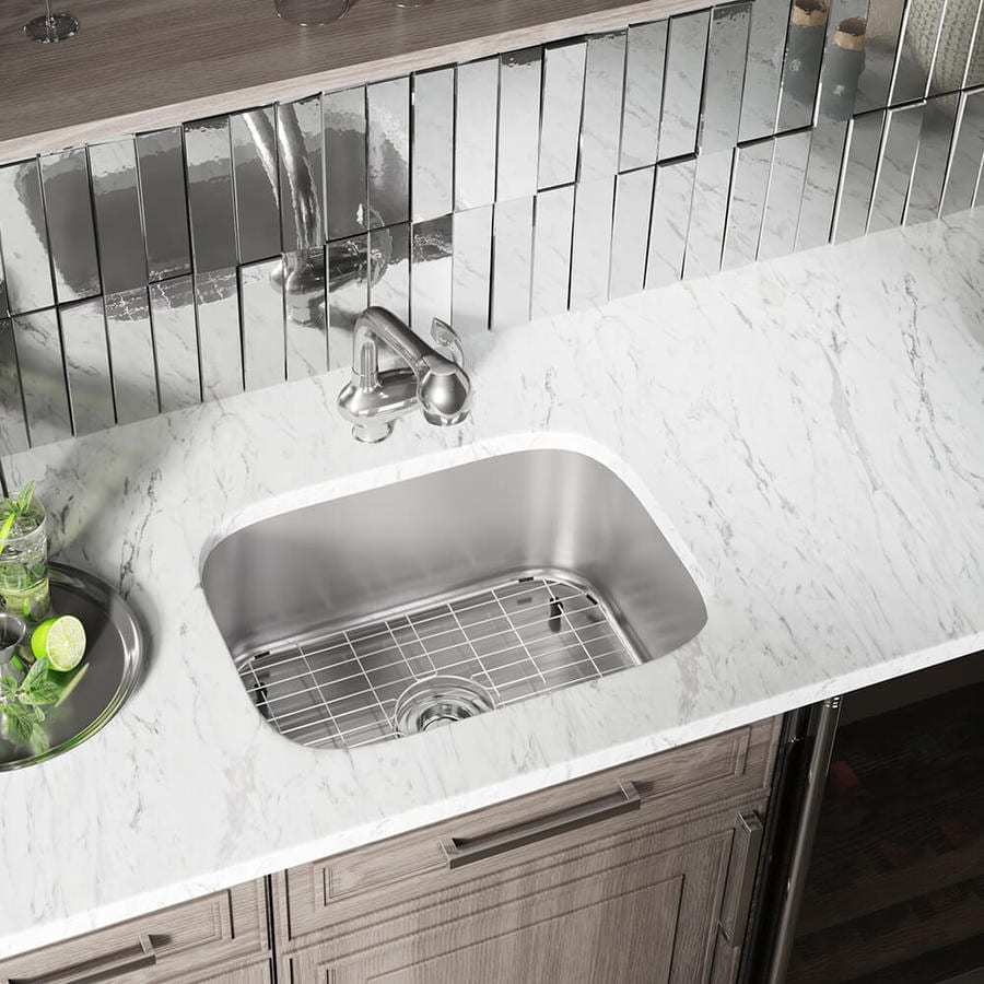 Industrial Residential Kitchen: MR Direct 23-in X 17.75-in Stainless Steel Single-Basin