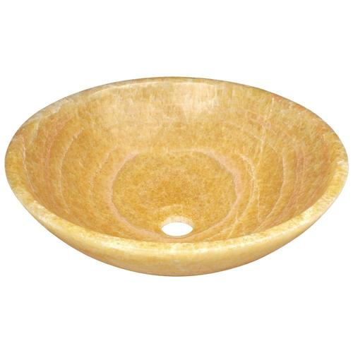 Mr Direct Honey Onyx Stone Vessel Round Bathroom Sink 16 5 In X 16 5 In In The Bathroom Sinks Department At Lowes Com
