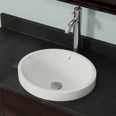 Mr Direct Bisque Porcelain Vessel Round Bathroom Sink With
