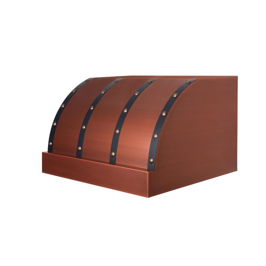 Zline Kitchen Bath 30 In Ducted Copper With Oil Rubbed Bronze Accents Undercabinet Range Hood Common Inch Actual