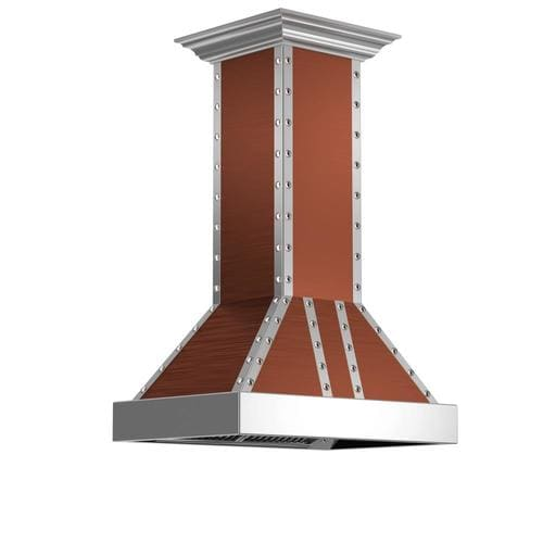 Zline Kitchen Amp Bath 36 In Ducted Copper Island Range Hood