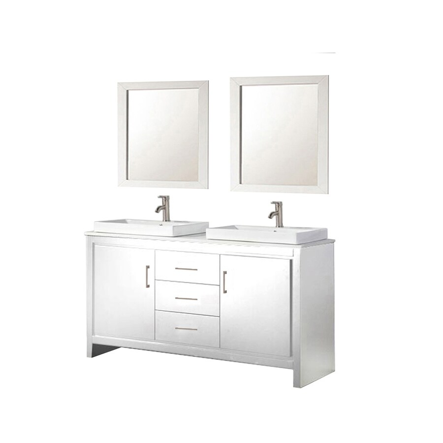 shop mtd vanities white vessel double sink bathroom vanity