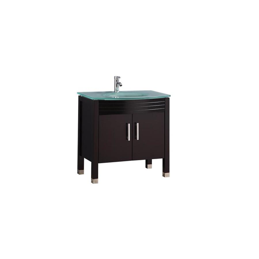 Original  Sink Oak Bathroom Vanity With Ceramic Top Faucet And Mirror Included