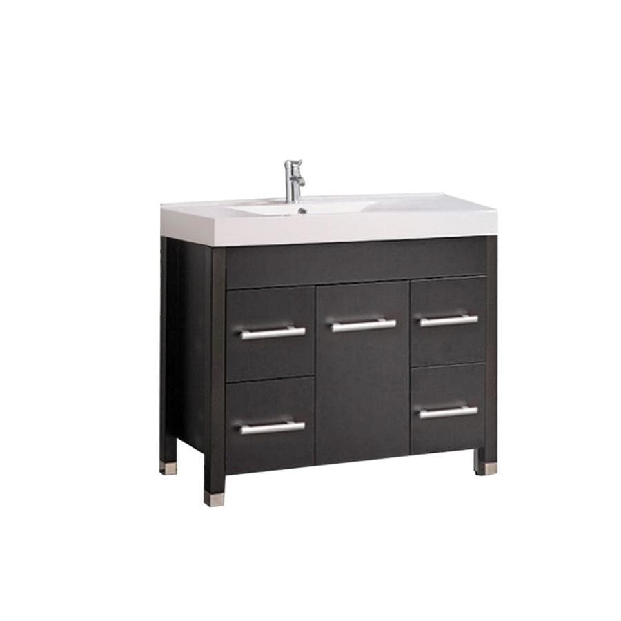 Mtd Vanities 35 4 In Espresso Single Sink Bathroom Vanity