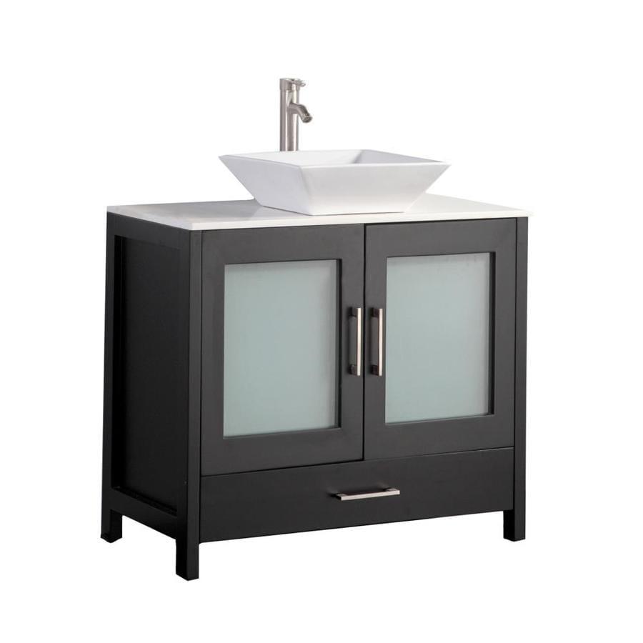 Bathroom Vanities 48 X 18 shop mtd vanities espresso double vessel sink bathroom vanity with