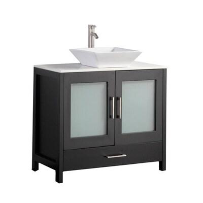 Mtd Vanities 48 In Espresso Double Sink Bathroom Vanity With White
