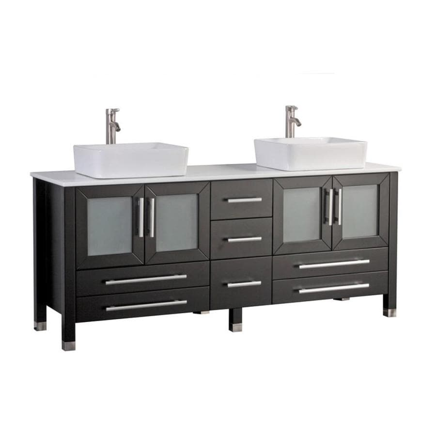 lowes double vanity bathroom sink shop mtd vanities espresso vessel sink bathroom 23727