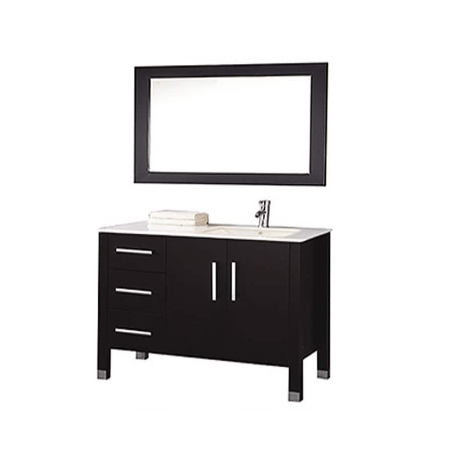 MTD Vanities Espresso Undermount Single Sink Bathroom Vanity with Engineered Stone Top (Common: 40-in x 22-in; Actual: 40-in x 22-in)