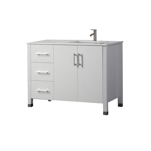 MTD Vanities 40-in White Single Sink Bathroom Vanity with ...